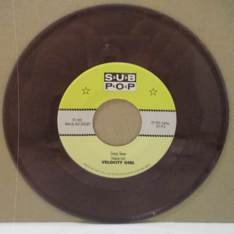 "VELOCITY GIRL - Crazy Town (US Ltd.Clear Purple Vinyl 7"")"