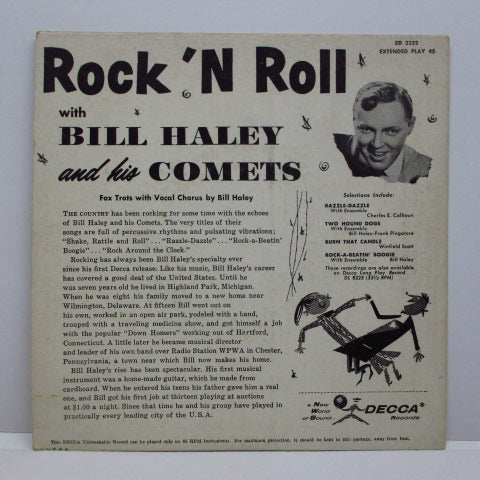BILL HALEY & HIS COMETS - Rock 'n Roll / Razzle-Dazzle +3 (US Orig.EP)