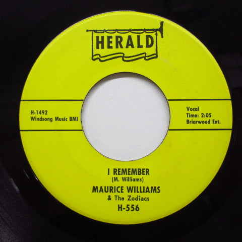 MAURICE WILLIAMS & THE ZODIACS - Always / I Remember (Orig)