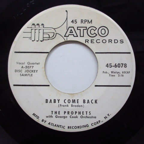 PROPHETS - Baby Come Back (Promo)