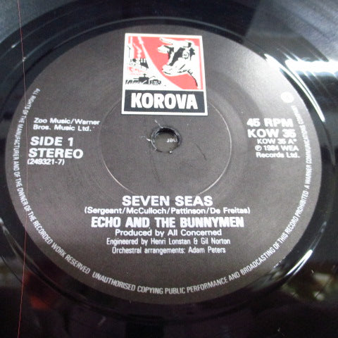 "ECHO & THE BUNNYMEN - Seven Seas (UK Orig.2x7"")"
