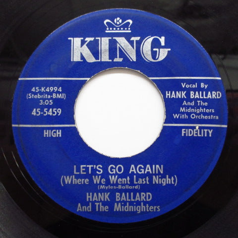 HANK BALLARD & THE MIDNIGHTERS - Let's Go Again / Deep Blue Sea