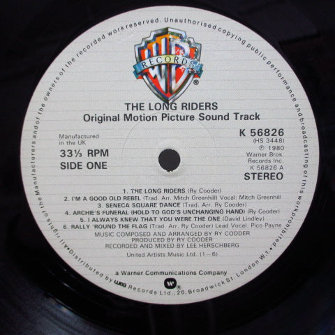 O.S.T. - The Long Riders (UK Orig.※EU共通W刻印有りジャケ)