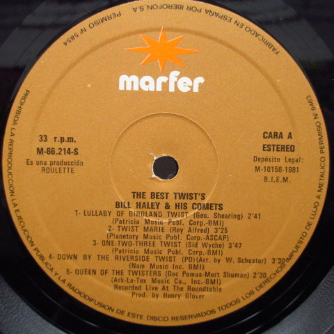 BILL HALEY & HIS COMETS - The Best Twist's (Spain Re Stereo LP)