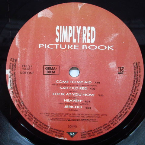 SIMPLY RED - Picure Book (UK/EU Orig. LP)