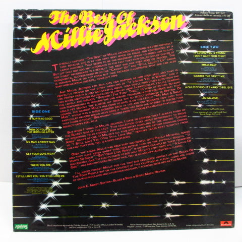 MILLIE JACKSON - The Best Of Millie Jackson (UK Orig.)