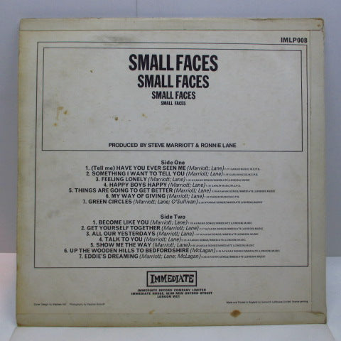 SMALL FACES - Small Faces (3rd) (UK Orig.Mono LP)