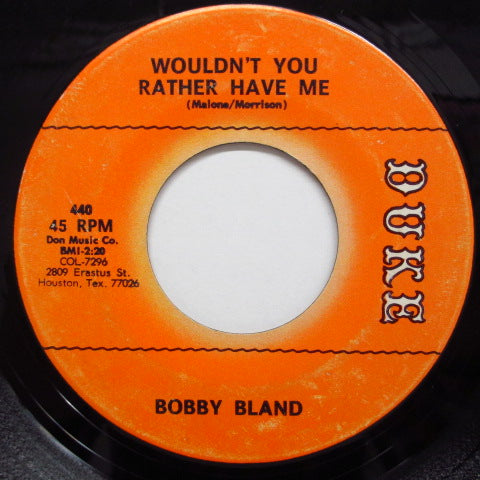 BOBBY BLAND - Wouldn't You Rather Have Me (Orig.)