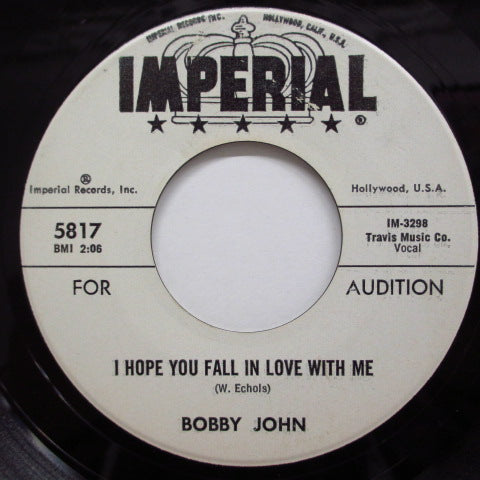 BOBBY JOHN - I Hope You Fall In Love With Me (Promo)