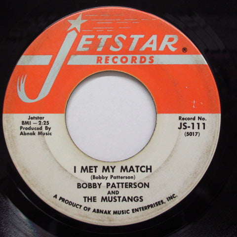 BOBBY PATTERSON & THE MUSTANGS - Broadway Ain't Funky No More (Orig.)