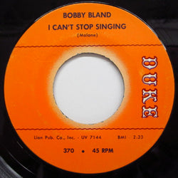 BOBBY BLAND - I Can't Stop Singing (Oirg.)