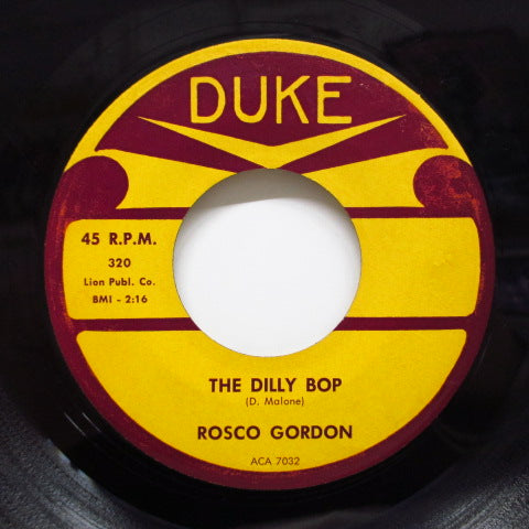 ROSCO GORDON - The Dilly Bop (Orig)