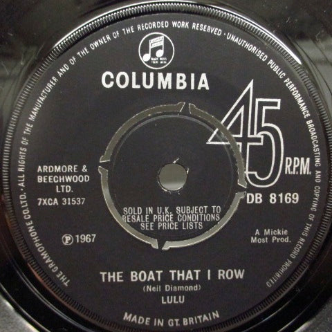 LULU - The Boat That I Row (UK Orig.Round Center)