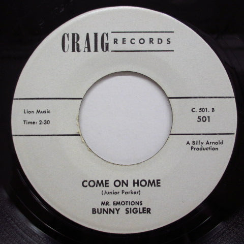 BUNNY SIGLER - Come On Home / I Won't Cry (Promo)