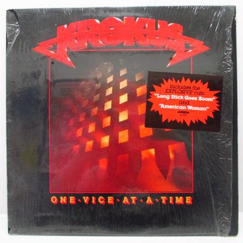 KROKUS (クロークス)  - One Vice At A Time (US Orig.LP/Stickered CVR)