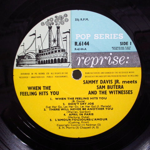 SAMMY DAVIS meets SAM BUTERA & THE WITNESSES - When The Feeling Hits You (UK Orig.Mono LP/CFS)