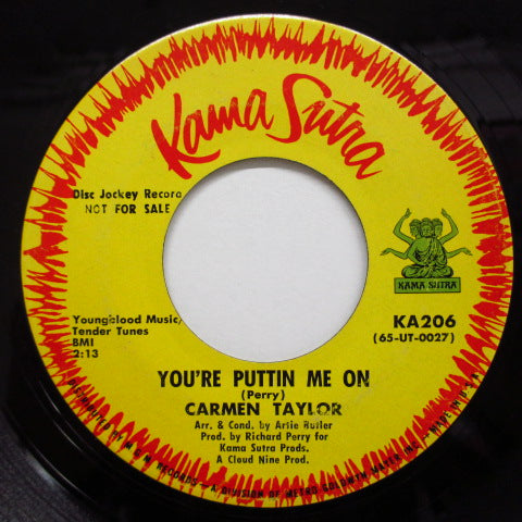 CARMEN TAYLOR - You're Puttin' Me On / Hey Son (Promo)