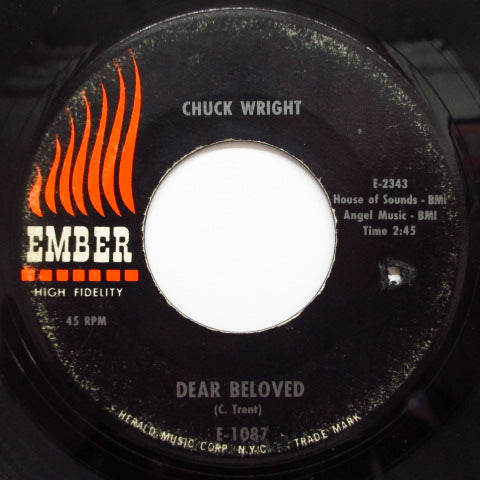 CHUCK WRIGHT - Love, I Won't Be Your Fool Anymore (60's 2nd Press)