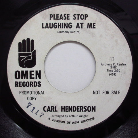 CARL HENDERSON - Please Stop Laughing At Me (Promo)