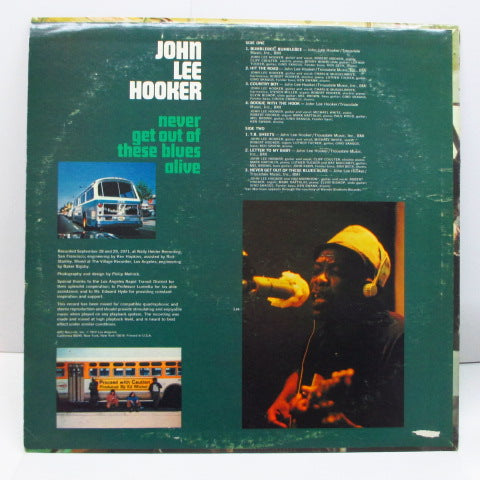 JOHN LEE HOOKER - Never Get Out Of These Blues Alive (US Orig.Stereo)