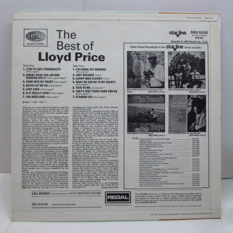 LLOYD PRICE - The Best Of Lloyd Price (UK Orig.Stereo/CFS)