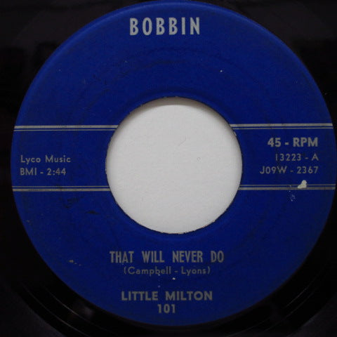 LITTLE MILTON - That Will Never Do / I'm A Lonley Man