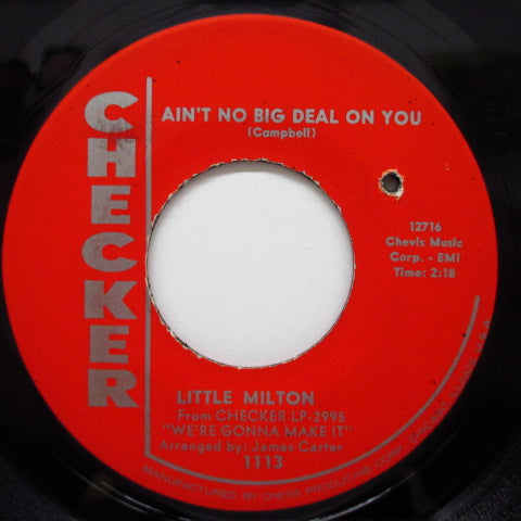 LITTLE MILTON - Ain't No Big Deal On You (Red Label)