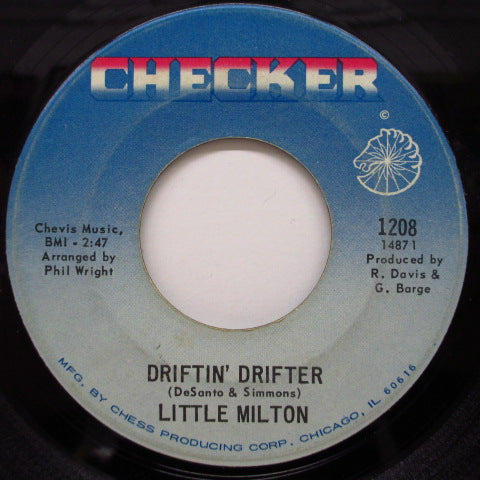 LITTLE MILTON - Driftin' Drifter / Let Me Down Easy
