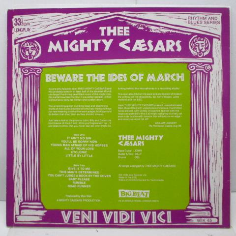 MIGHTY CAESARS - Beware The Ides Of March (UK Orig.LP)