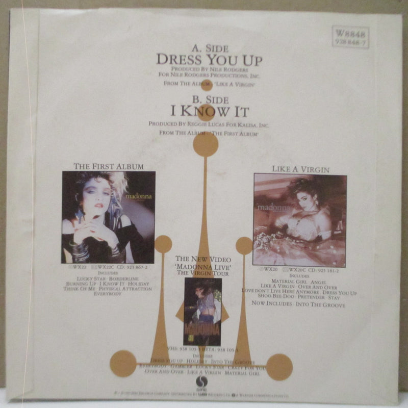 "MADONNA - Dress You Up (UK Orig.Paper Lbl.7""/Matt PS)"