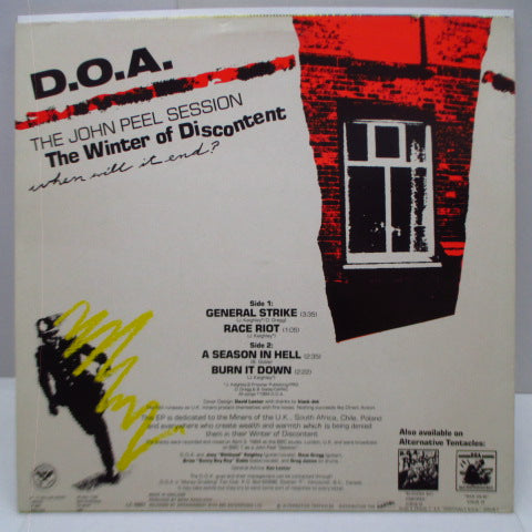"D.O.A. - Don't Turn Yer Back On Desperate Timrs (UK Orig.12"")"
