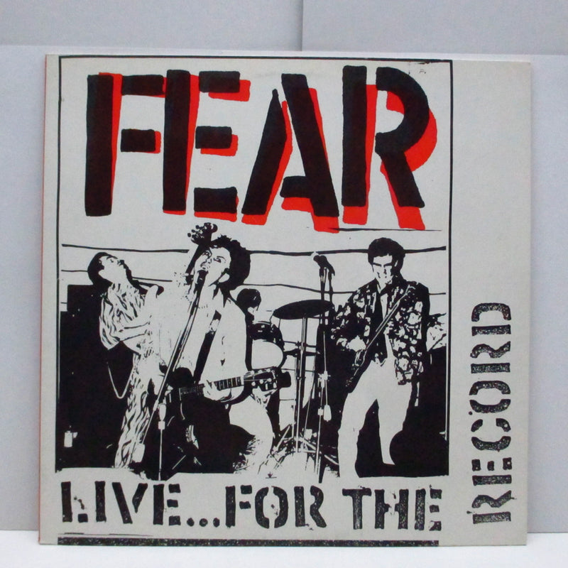 FEAR (フィア)  - Live...For The Record (Dutch Orig.LP+Inner)