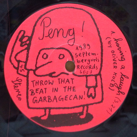 "THROW THAT BEAT IN THE GARBAGECAN! - Peng! (German Orig.7""/Yellow PS)"