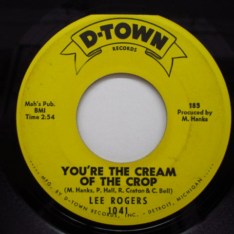 LEE ROGERS - You're The Cream Of The Crop
