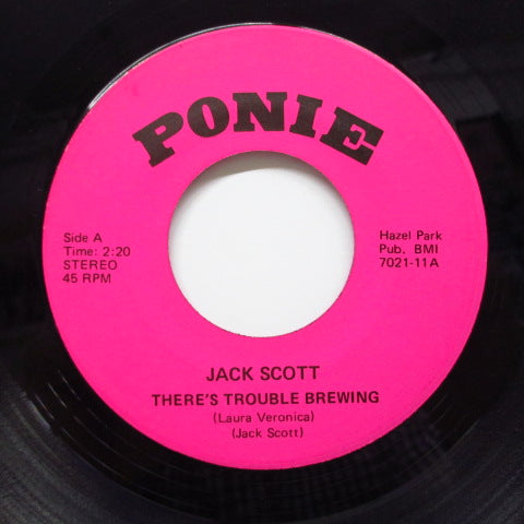 JACK SCOTT - There's Trouble Brewing ('77 Reissue)