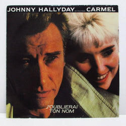 "JOHNNY HALLIDAY (duo with CARMEL) - Encore (France Orig.7""+PS)"