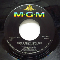 LOU CHRISTIE - Since I Don't Have You (Orig)
