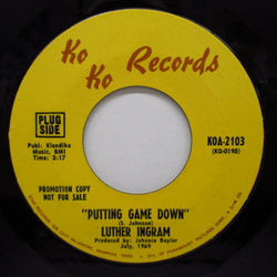 LUTHER INGRAM - Puttin' Game Down ('69 Version Promo)