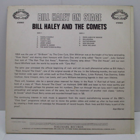 BILL HALEY & HIS COMETS - On Stage (UK Orig.Stereo LP/CS)