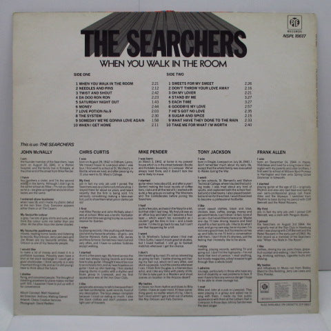 SEARCHERS - When You Walk In The Room (UK '80s Pye Press LP)