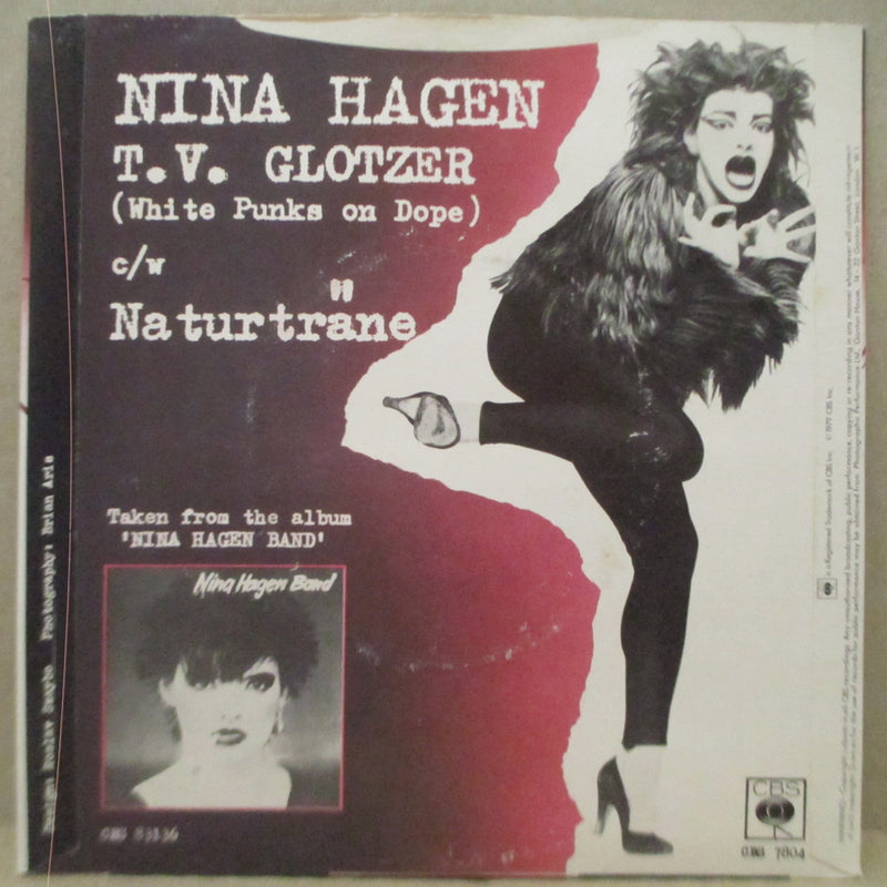 "NINA HAGEN BAND - T.V. Glotzer - White Punks On Dope (UK Orig.7"")"
