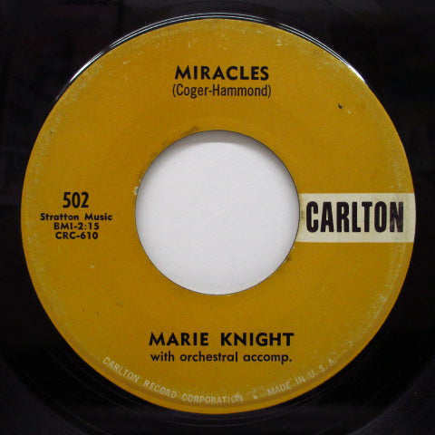MARIE & REX / MARIE KNIGHT - I Can't Sit Down / Miracles (Orig)