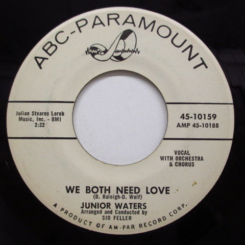 JUNIOR WATERS - We Both Need Love (Promo)