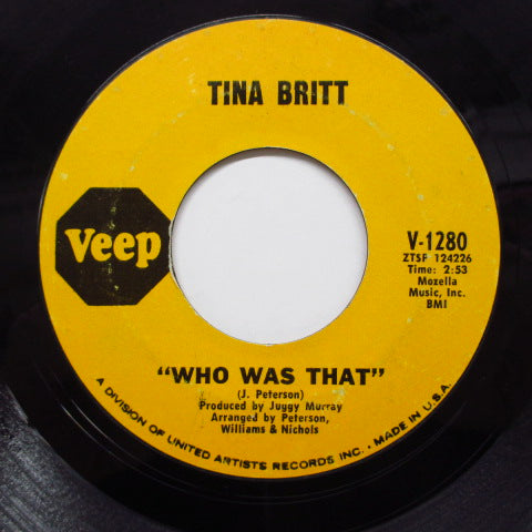 TINA BRITT (ティナ・ブリット)  - Who Was That (Orig)