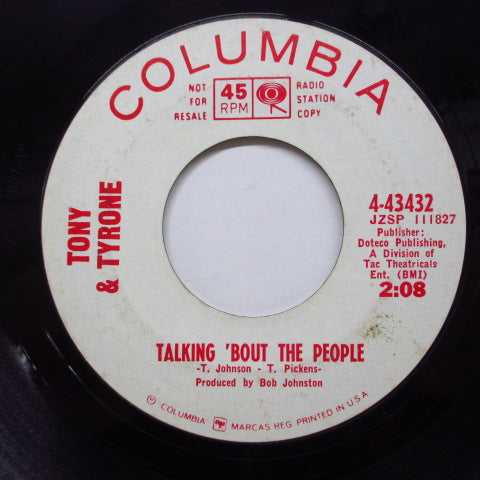 TONY & TYRONE (トニー&タイロン)  - Talking 'Bout The People (Promo)