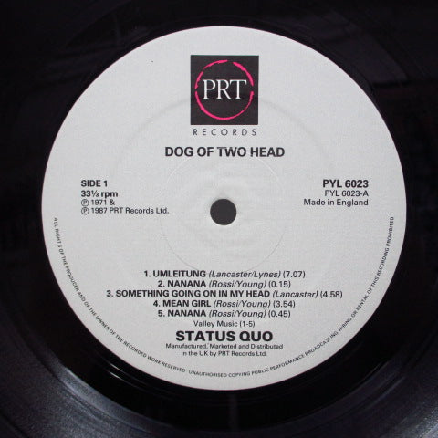 STATUS QUO - Dog Of Two Head (UK PRT Reissue/Barcode GS)
