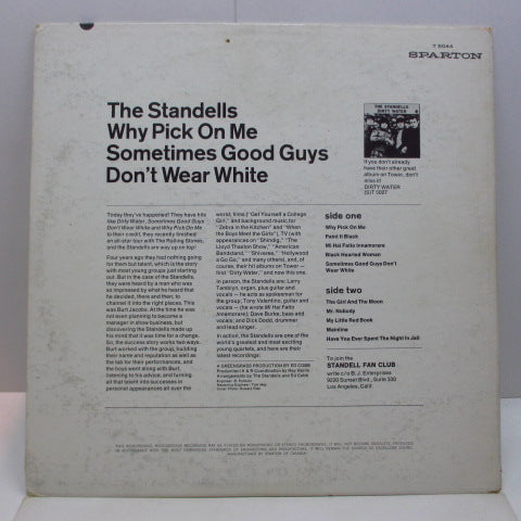 STANDELLS - Why Pick On Me (Canada Orig.Mono LP)