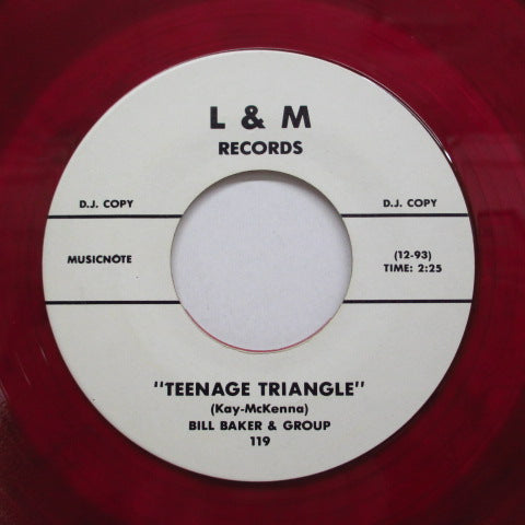 BILL BAKER & THE GROUP - Teenage Triangle (70's Re Promo Red Vinyl)