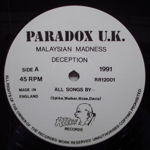 "PARADOX U.K. - Disenchanted Land (UK Orig.12"")"
