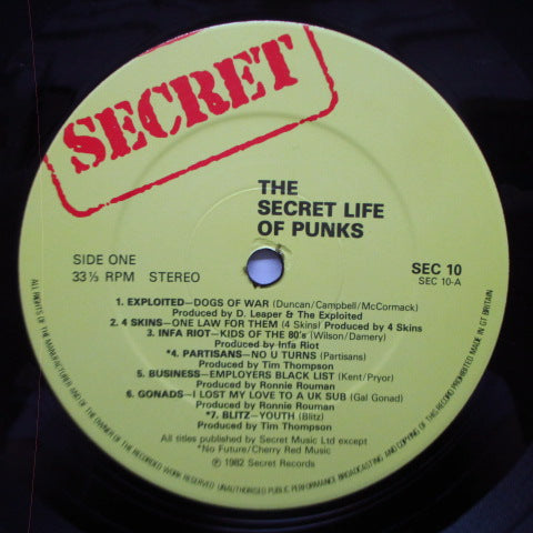 V.A. - The Secret Life Of Punks (UK Orig.LP)